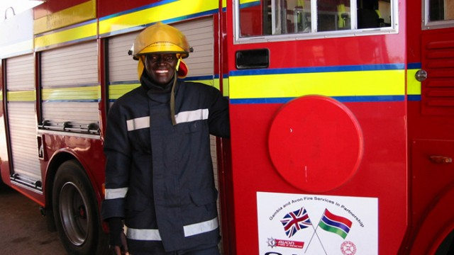 gambian firefighter