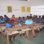 Classroom in the Gambia 2006.